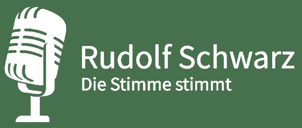 Logo Profisprecher und Moderator Rudolf Schwarz
