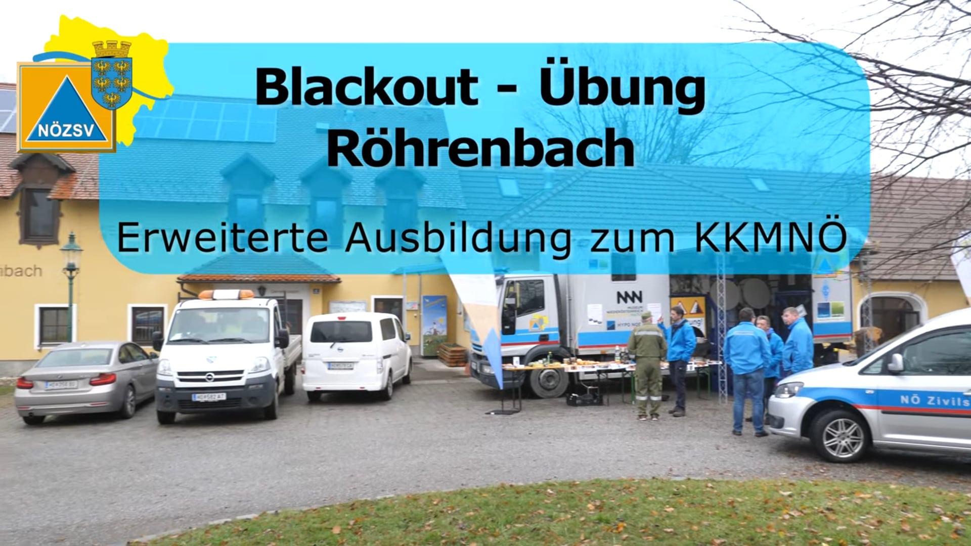 Vorschaubild Blackout-Übung Röhrenbach